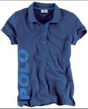 Organic T Shirt Blue Ladies