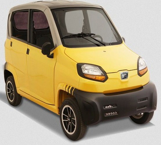Bajaj Qute Colour Yellow