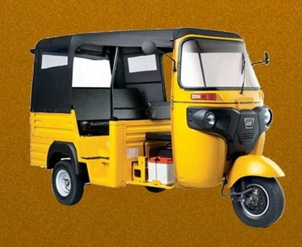 Bajaj Three Wheeler Max Cng Colour Yellow