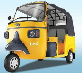Piaggio Ape City Lpg Colour Yellow