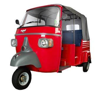 Piaggio Ape City Petrol Colour Red