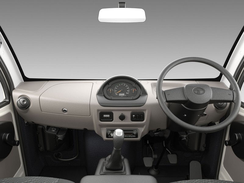 Tata Ace Mega Interiors Central Console Steering Wheel